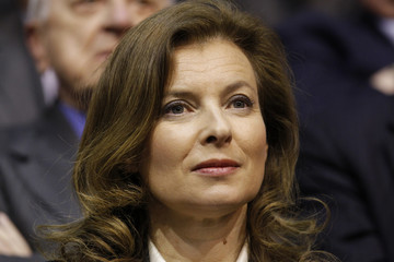 Valerie Trierweiler, French journalist and companion of Francois Hollande, attends a campaign rally in Lille