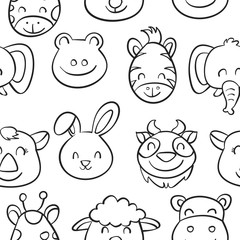 Hand draw animal style pattern collection