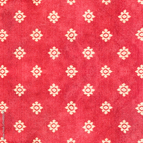 "Red Carpet Texture Pattern: ""Red Thai Carpet With Pattern Background And Texture"