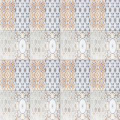 old ceramic tile wall patterns in the park public.