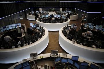 A general view of the German stock exchange in Frankfurt
