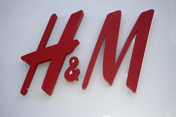 File photo shows H&M store logo on a building along the Lincoln Road Mall in Miami Beach