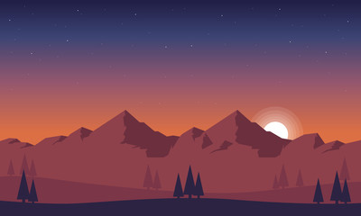Background game style beauty landscape
