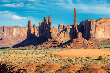 Landscape at Monument Valley, Totem Pole, Arizona.