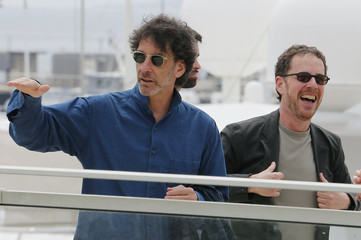 American writer and director brothers Joel and Ethan Coen, Jury Presidents of the 68th Cannes Film Festival, arrive to attend a photocall before the opening of the Film Festival in Cannes
