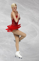Helgesson of Sweden performs during her women's short programme at the European Figure Skating Championships in Sheffield