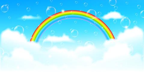 虹 空 風景 背景