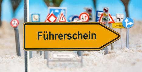 Schild 180 - Führerschein