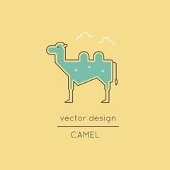 Camel line icon