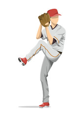Isolated baseball player.