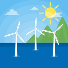 Wind energy generation.