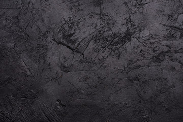 Top view of blank black slate textured background