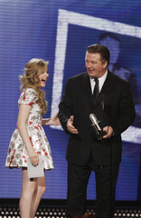 "Chloe Moretz presents the award for Best Actor - TV to Alec Baldwin at ""The Comedy Awards"" in New York City"