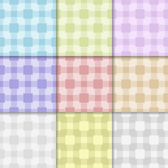 Textile checkered collection of seamless patterns