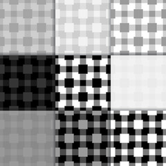 Checkered black and white wallpaper. Seamless pattern