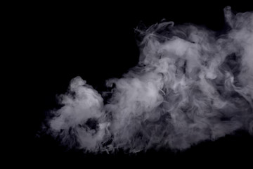Abstract white smoke against dark background