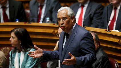 Costa, leader of Socialist Party (PS), speaks during the election for Portuguese Parliament President in Lisbon