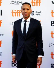 "Musician John Legend arrives on the red carpet for the film ""La La Land"" during the Toronto International Film Festival in Toronto"