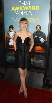 """Imogen Poots attends premiere of film """"That Awkward Moment"""" in Los Angeles"""