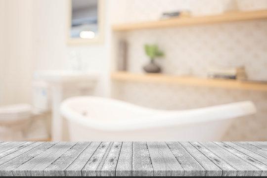 Abstract blur modern  bathroom interior background