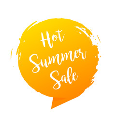 Hot summer sale banner, stylish vector design