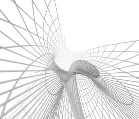 抽象的なワイヤーフレーム