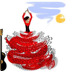 abstract image of flamenco girl