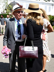 Rupert Murdoch and his wife Jerry Hall visit the Royal Horticultural Society's Chelsea Flower show in London