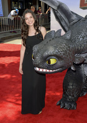 """Actress Madison McLaughlin arrives at the premiere of """"How To Train Your Dragon 2"""" in Los Angeles, California"""