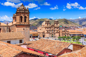 Foto auf Acrylglas Südamerikanisches Land Cusco, Peru the historic capital of the Inca Empire. Plaza de Armas.