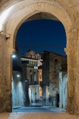 Matera di Notte, vista da piazza duomo