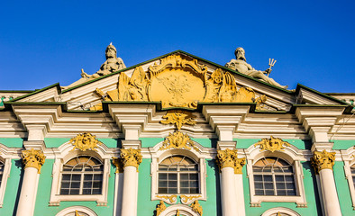 Detail of Winter Palace. The State Hermitage Museum.