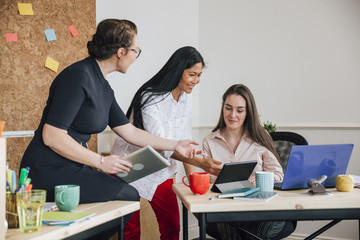 Female Workers In An Office