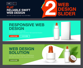 Web slider for your Website. Banners design concepts for cosmetic website.