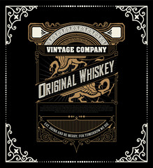 Retro whiskey label. Vector layered