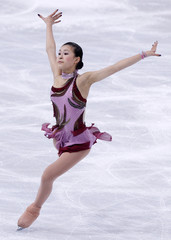 Murakami of Japan performs during the Ladies Short Program in the Bompard Trophy event at Bercy in Paris