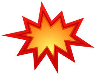 Vector bursting star illustration eps 10