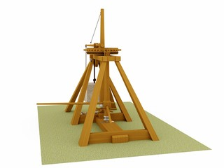 Catapult, Leonardo da Vinci, Codex Atlanticus/0182r