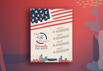 Two Fourth of July Flyer Layouts