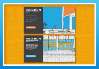Two Illustrated Bussiness Web Ad Banners 2