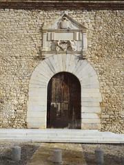 Puerta antigua de entrada a la universidad de Girona