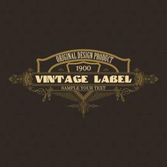 Vintage typographic label premium - vector