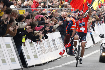 Cancellara of Switzerland wins the ProTour Ronde van Vlaanderen/Tour of Flanders cycling race in Meerbeke