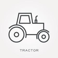 Line icon tractor
