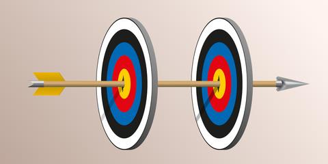 cible - stratégie - challenge - performance - réussite - succès - flèche, tir à l'arc