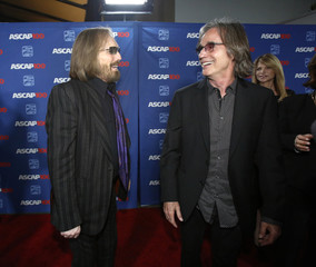 Musicians Petty and Browne greet each other at the 31st annual ASCAP Pop Music Awards in Hollywood