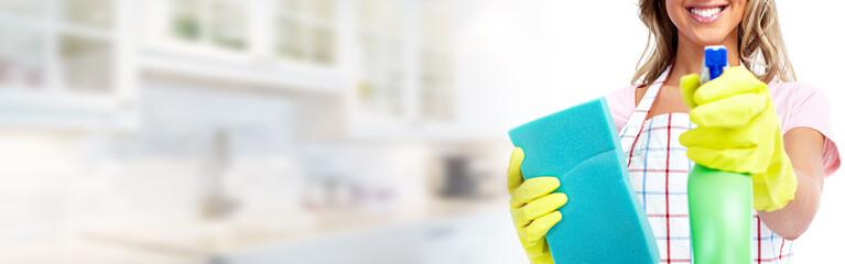 Obraz House cleaning - fototapety do salonu