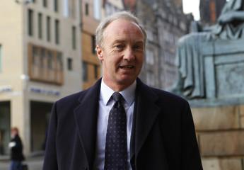 Scott, Duke of Buccleuch, arrives at the High Court of Scotland building in Edinburgh, Scotland