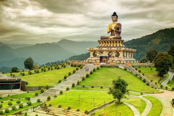 Wall Murals Monument Buddha Park, Rabangla, Sikkim