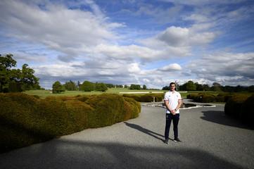 British & Irish Lions Sam Warburton poses for a photo